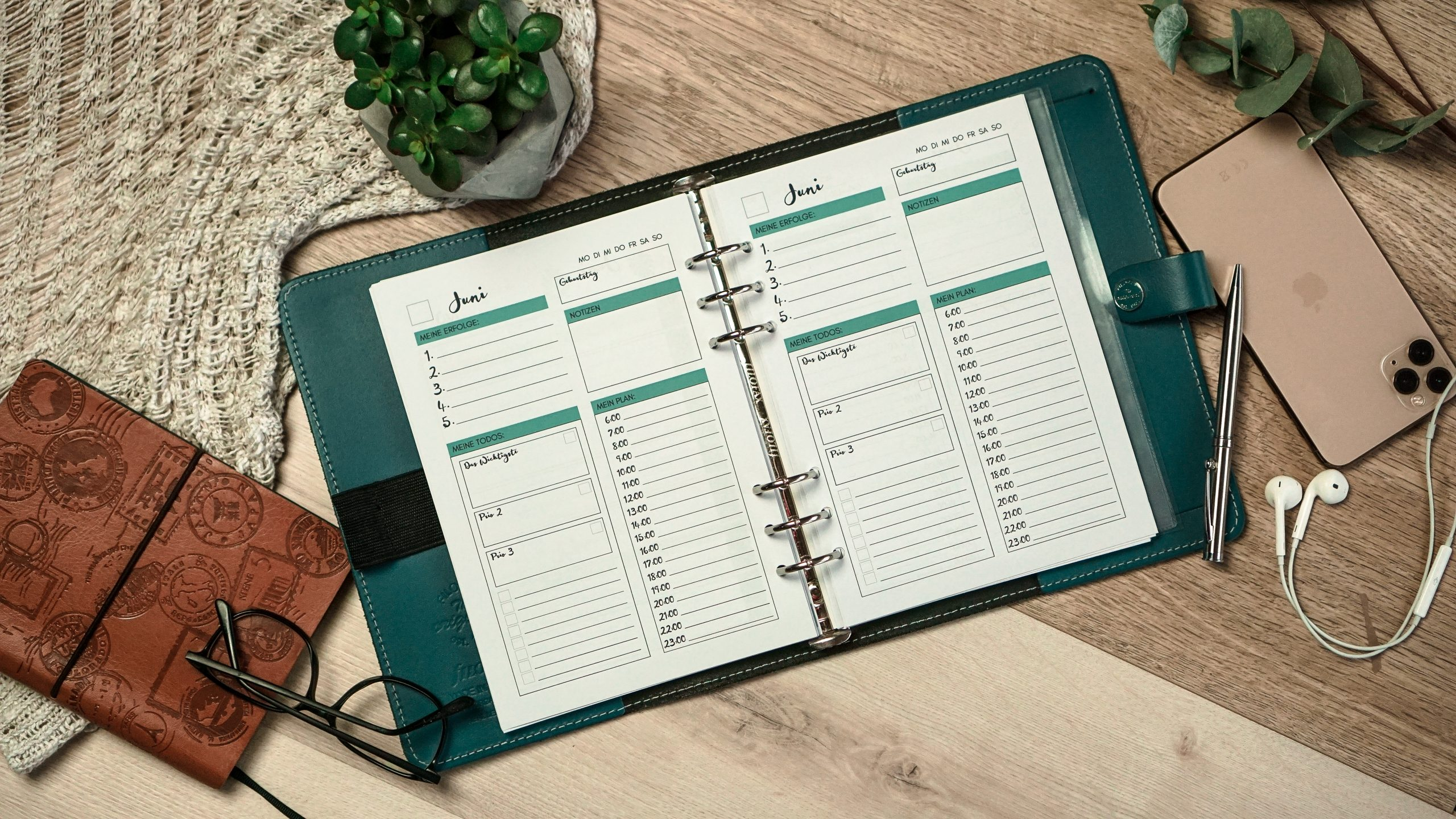 Kalendereinlagen zur erfolgreichen Wochenplanung
