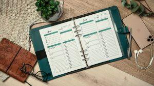 Filofax mit Kalendereinlagen zu erfolgreichen Tagesplanung.